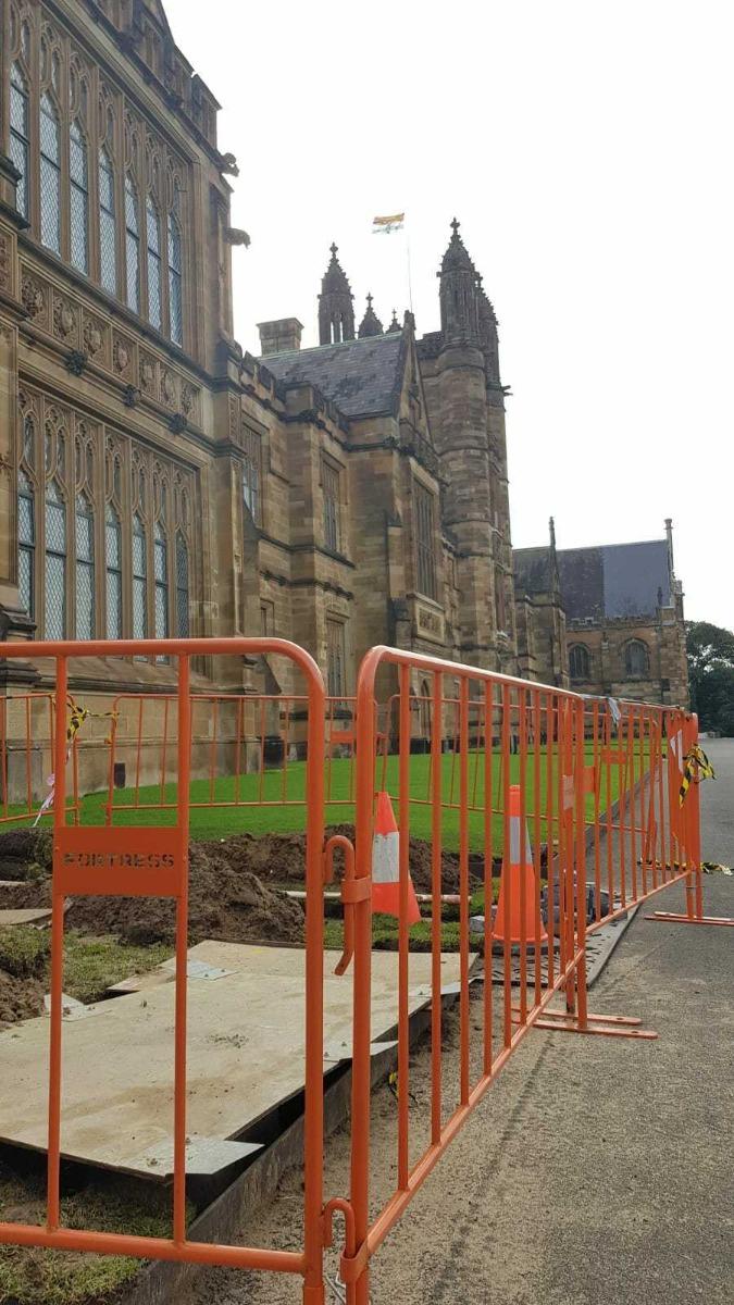 crowd control barriers in Sydney