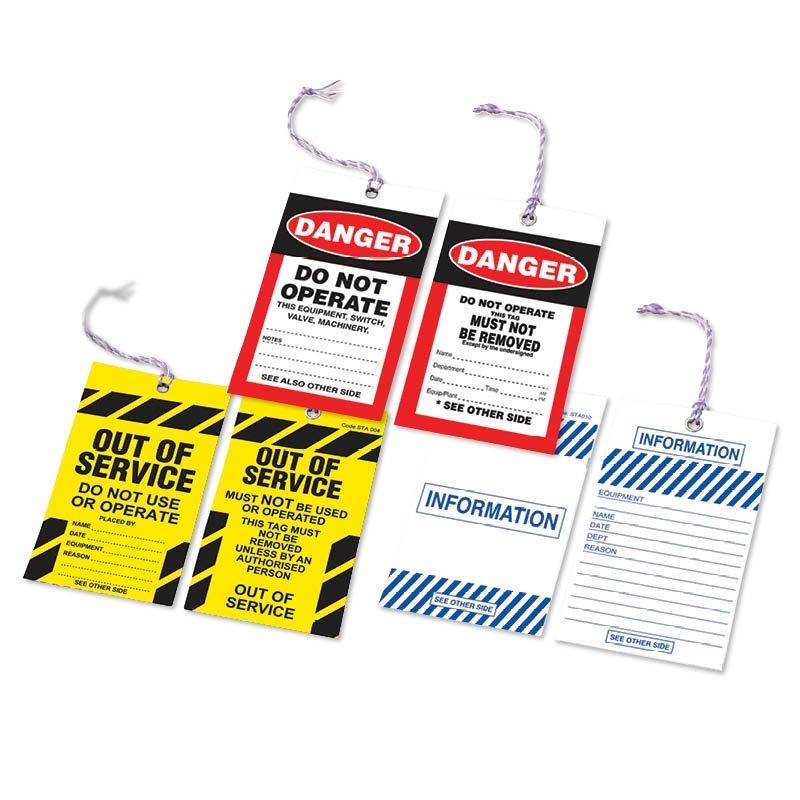 Safety Tags, Log Books & Posters