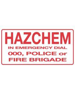 Hazchem In Emergency Dial 000