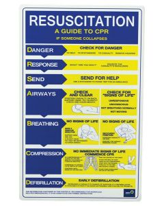 CPR Resuscitation Chart 'A Guide To CPR', 640 x 400 mm