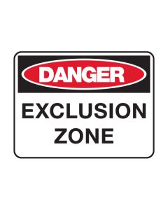 Danger Exclusion Zone 600 x 450 mm Poly