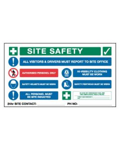 Corporate Site Safety Multi Sign 1200 x 900 mm Poly