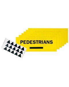 Pedestrian Arrow Direction Sign Kit - 600 x 225mm