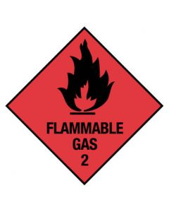 Dangerous Goods Handling Sign - Flammable Gas 2