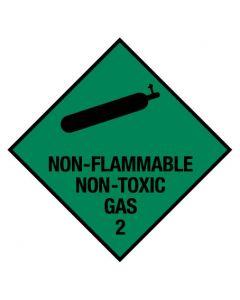Non-Flammable Non-Toxic Gas 2 - Poly Sign