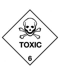 Dangerous Goods Handling Sign - Toxic 6 250 x 250 mm