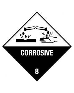 Dangerous Goods Handling Sign - Corrosive 8