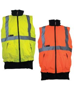 Reversible Hi-Vis Two Tone Reflective Fleece Vest