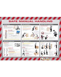 Sign Poster - Safe Manual Handling 600 x 320mm