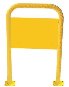 Yellow Steel Pedestrian Bollard 660mm x 1060mm