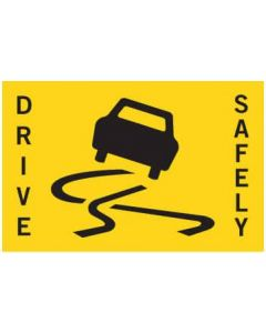 Repeater Sign - Slippery Car - Non-Reflective