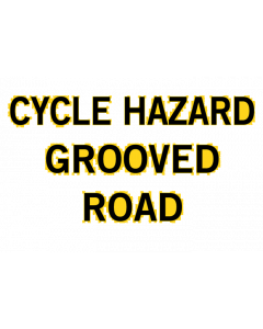 Repeater Sign - Cycle Hazard Grooved Road - 3mm Non Reflective