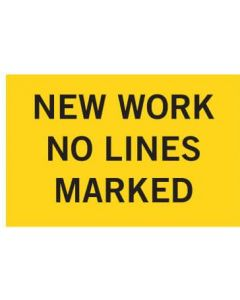 Repeater Sign - New Work No Lines - 3mm Non Reflective