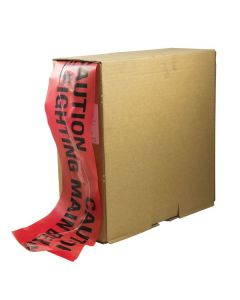 Mains Marker Tape - Detectable: Red (FIRE FIGHTING MAIN)