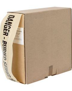 Mains Marker Tape Detectable Beige (Sewer Main)