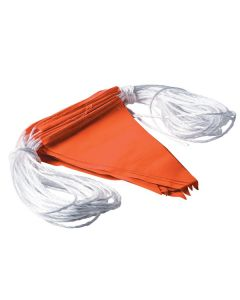 Extra Long Orange Safety Flagging / Bunting 100M
