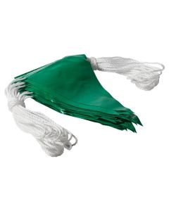 Safety Flagging / Bunting Green 30M