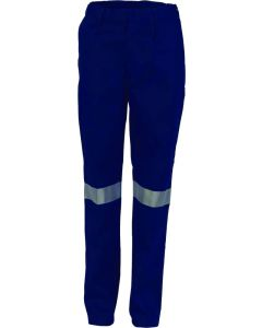 Ladies Cotton Drill Pants W/Reflective Tape