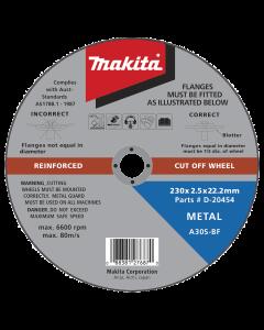 Metal Cut Off Wheel 230mm x 2.5mm x 22.2mm