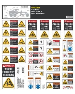 Grader Safety Sticker Set