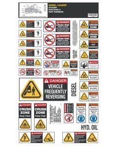 Wheel Loader Safety Sticker Set