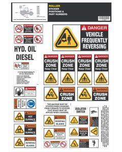 Roller Safety Sticker Set