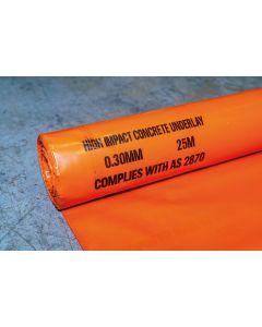 Orange Plastic 300µm, 25m x 4m Roll