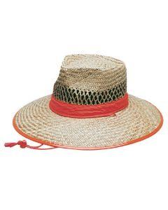 Sun Hat - Natural Straw Orange