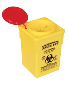 Sharps Container With Snap Top - Medium 1.8L