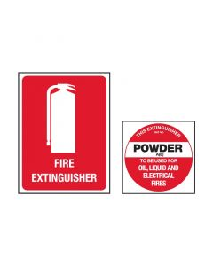 Fire Extinguisher Sign Kit Powder AE