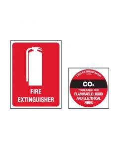Fire Extinguisher Sign  Co2