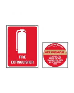 Fire Extinguisher Sign Kit Wet Chemical
