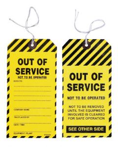 Safety Tag - Safety Tag Caution 100/Pack
