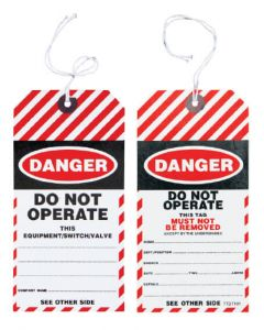 Safety Tag - Safety Tag Danger 100/Pack