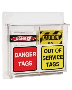 LOTO Wall Mount Tag Station - 250mm x 250mm