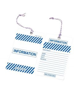 Safety Tag - Safety Tag Information Blue 100/Pack