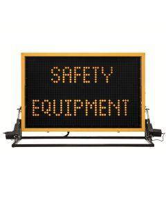 Size C Amber vehicle mounted sign
