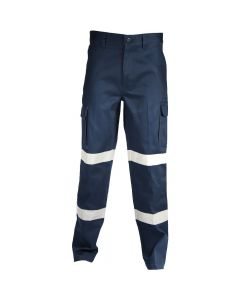 COTTON DRILL CARGO PANTS W/REF. TAPE 311gsm