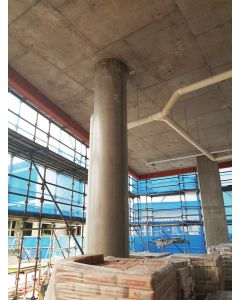 Consystex Round Column Formwork System, Standard Lined Finish