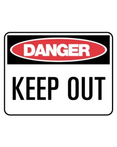METAL DANGER SIGN - KEEP OUT