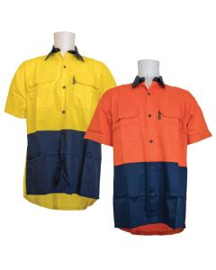 155gsm Short Sleeve Cotton Drill Shirt