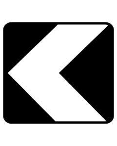 Uni-Directional Hazard Sign CHEVRON