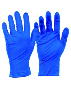 These nitrile gloves are non sterile and powder free with a 100% Nitrile construction. 100  gloves per box,  Size S.