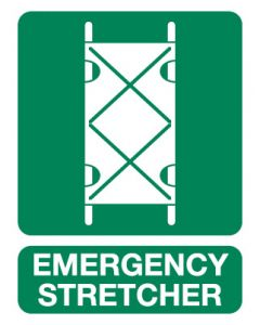 First Aid Sign - Emergency Stretcher 600 x 450mm Poly