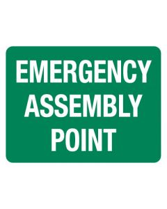 First Aid Sign - Emergency Assembly Point 600 x 450mm Poly