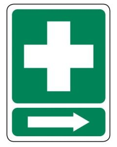 First Aid R 600 x 450mm Poly