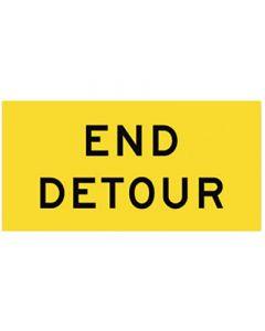 End Detour Multi Message Sign