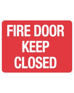 Fire Sign - Fire Door Keep Closed 225 x 300mm Poly