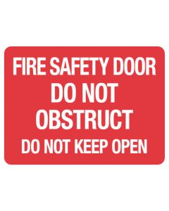 Fire Sign - Fire Safety Door 225 x 300 mm Poly