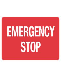 Fire Sign - Emergency Stop 225 x 300 mm Poly